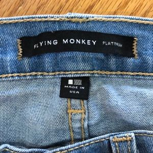 Flying Monkey Jeans - Flying Monkey Light Wash Ripped Jeans